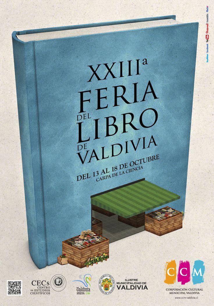 Afiche XXIII Feria del Libro de Valdivia. CCM 2015.