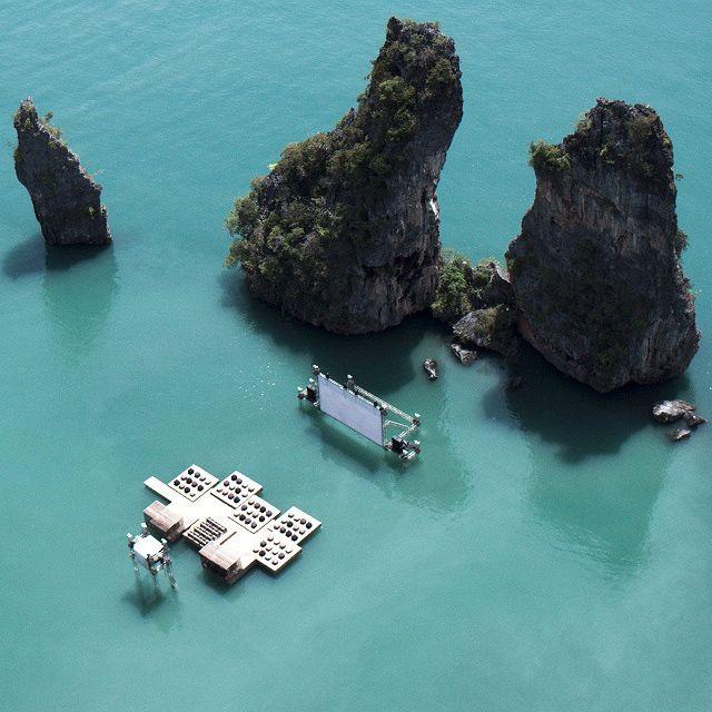 Archipelago Cinema: Filmfilmfilm, Film Festivals, The Rocks, Movie Theater, Theatre, Thailand, Film Film Film, Floating Cinema, Favorite Recipes
