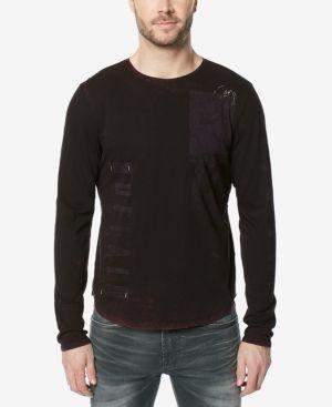 Buffalo David Bitton Men's Talec Graphic-Print Long-Sleeve T-Shirt - Purple XXL