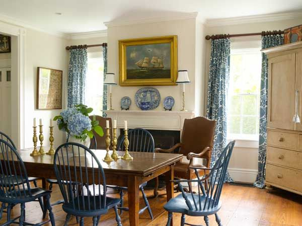 Blue U0026 White Decorating Schemes For Old Houses. Windsor ChairsNantucket ...