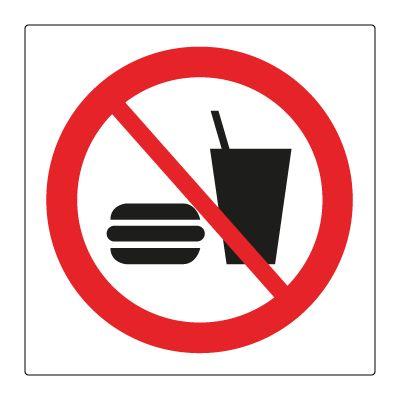 Mat og drikkevarer forbudt - Bestill Forbudsskilt