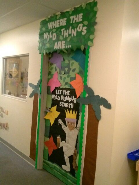 Halloween Classroom Door Decor ~ Where the wild things are back to school door kid