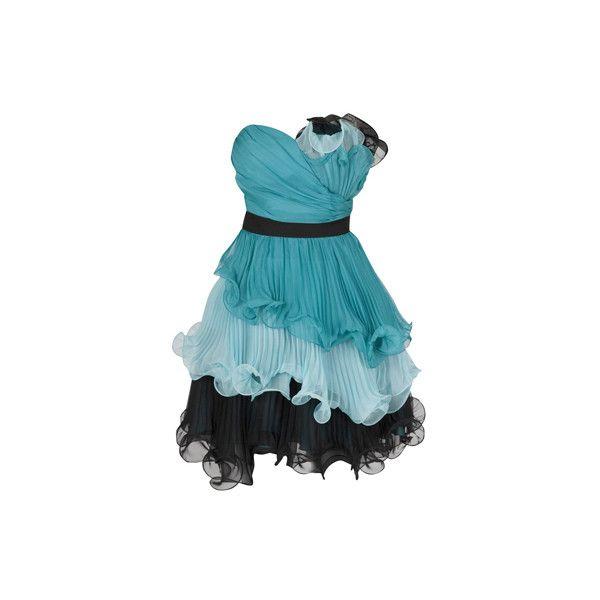 DRESSES - AMBER - AQUA - Forever Unique ($230) ❤ liked on Polyvore featuring dresses, vestidos, short dresses, blue, short blue dresses, aqua dresses, mini dress, aqua blue dress and asos dresses