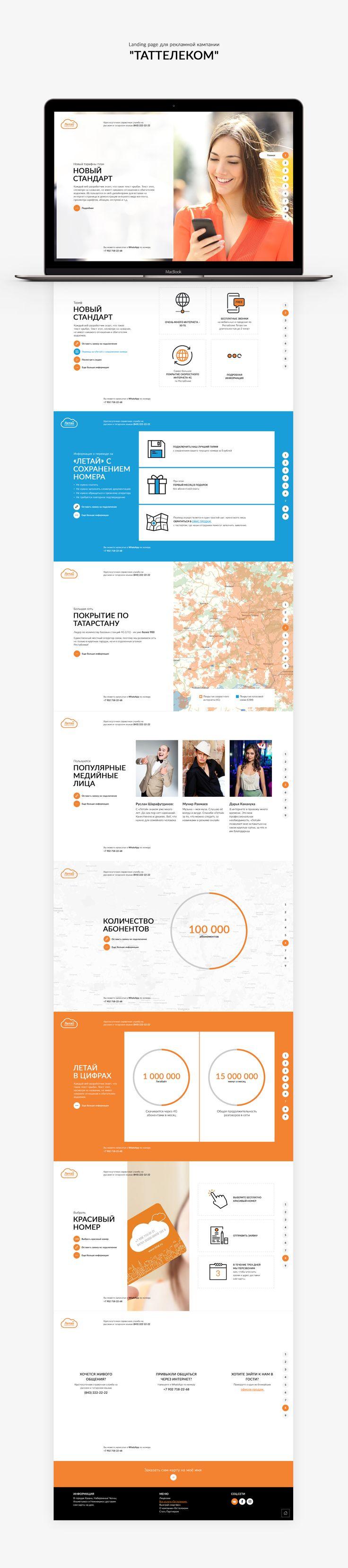 """Landing page для рекламной кампании """"Таттелеком"""""""