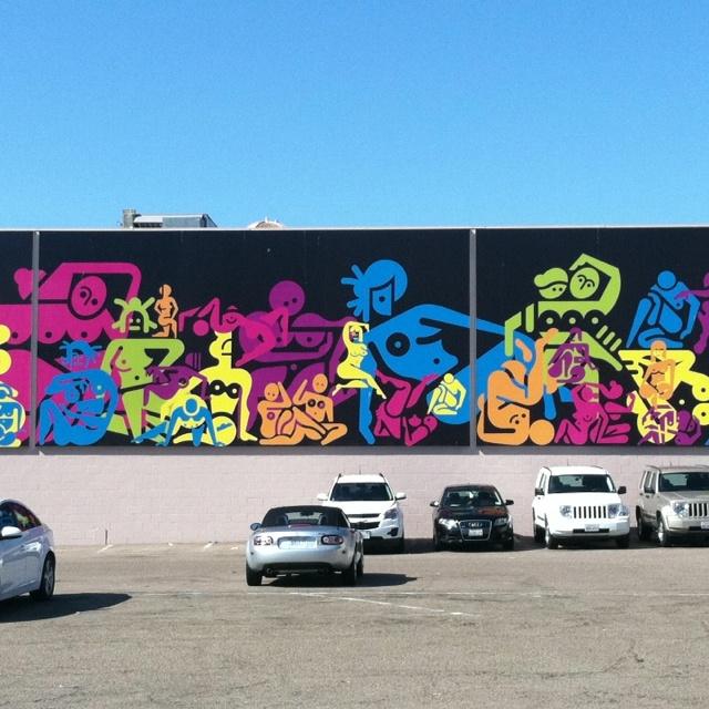 Mural in downtown La Jolla, California.