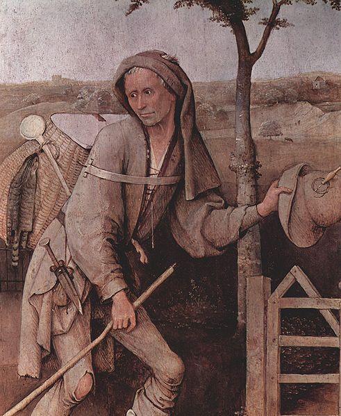 """A piece done by Hierinymus Bosch around 1487-1516 and is called """"Der Landstreicher'."""