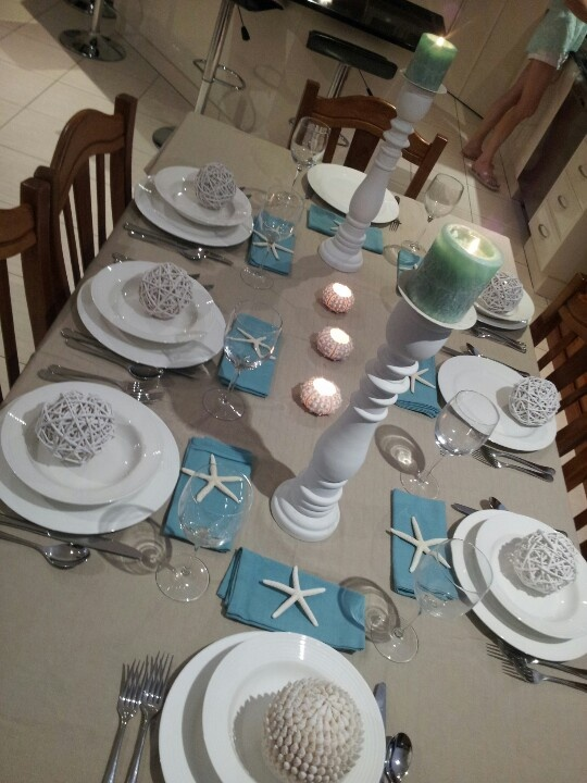 Sea side place setting | Tablescapes and decor | Pinterest ...