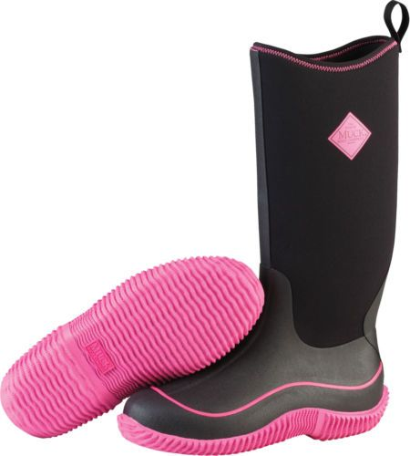 Brand New Muck Boot HAW-404 Women's Black/Pink Hale Cold Weather Boots