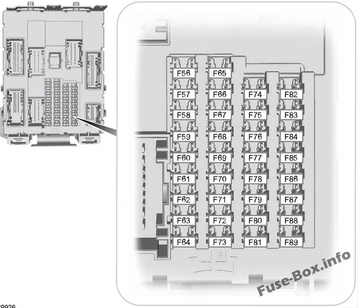 Interior Fuse Box Diagram Ford Transit Connect 2014 2015 2016 2017 2018 Fuse Box Ford Transit Ford Focus