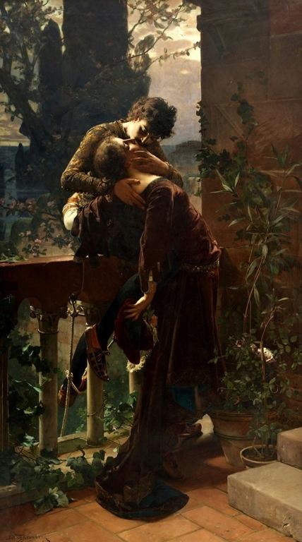 'Romeu e Julieta na Sacada' → Julius Fronberg -1850/1921.