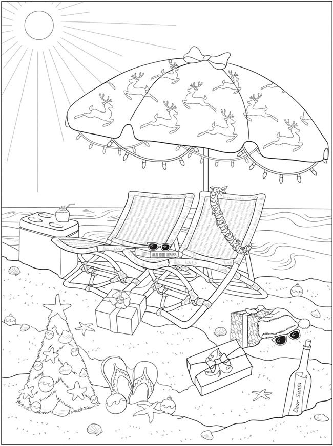 Welcome To Dover Publications Ch Tropical Christmas Summer Coloring Pages Christmas Coloring Pages Cool Coloring Pages