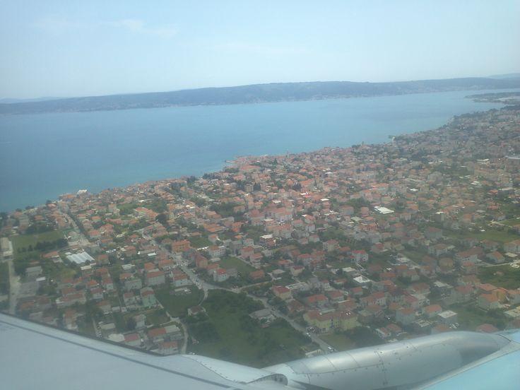 Split, Croatia (view from the plane)