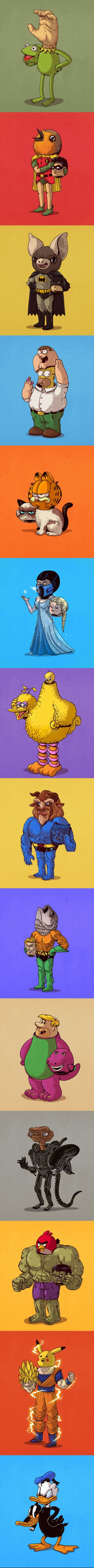 Iconic Characters Unmasked (By Alex Solis)