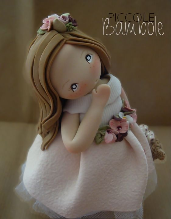 PiccoleBambole: Porcellana fredda - bambola colore rosa cipria