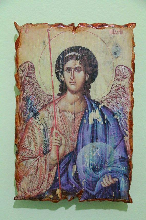 Saint Michael (Archangel). Handmade in Hellas-Greece. Dimensions: 7,85 x 11,80 inches / 20 x 30 cm