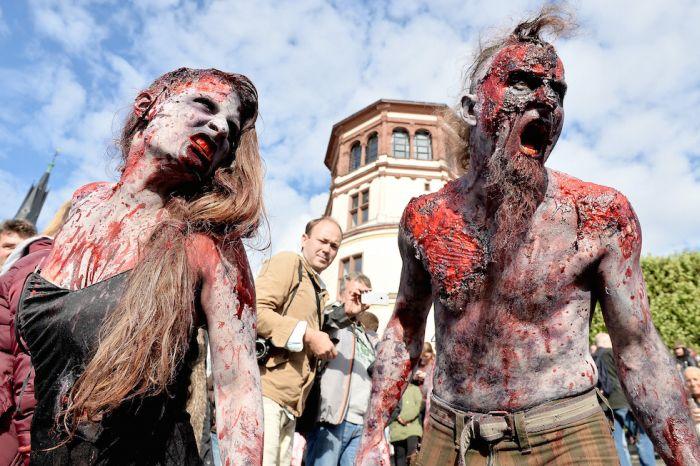 marche des zombies duesseldorf allemagne