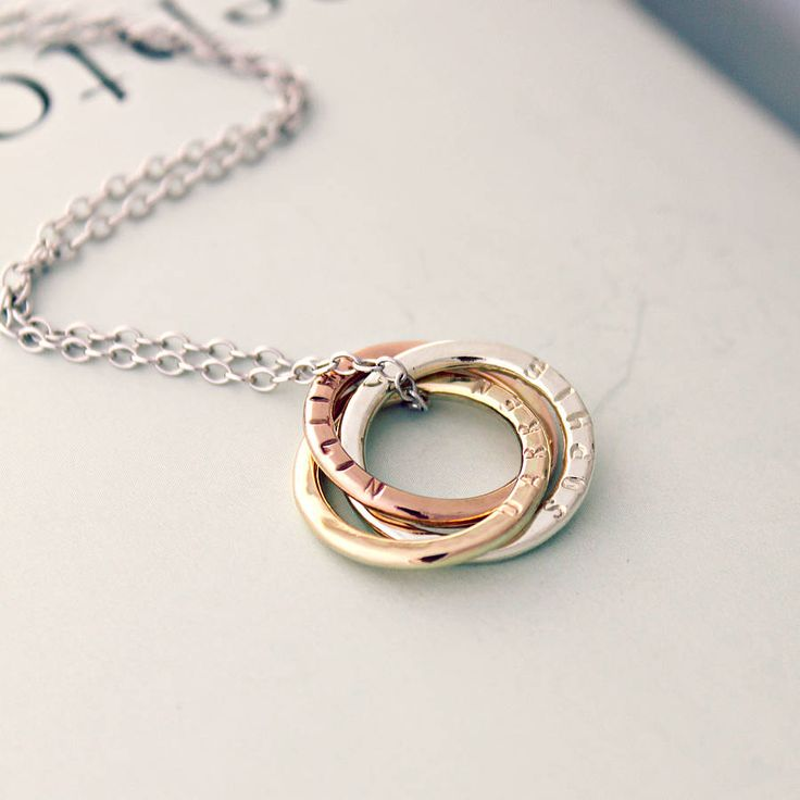 Personalised 9ct gold russian ring necklace by posh totty designs boutique | notonthehighstreet.com