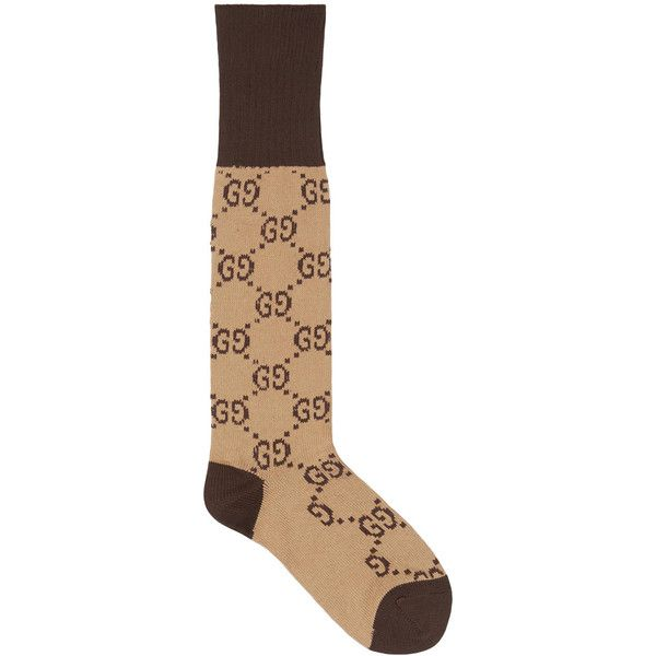 789271743402b Gucci GG Pattern Cotton Blend Socks ($100) ❤ liked on Polyvore featuring  intimates, hosiery, socks, gucci socks, print socks, ankle socks, gucci and  short ...
