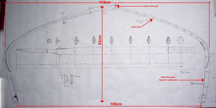 Sketch of a northern style Chinese composite bow from the mid 19th Century, by Stefan Demeter