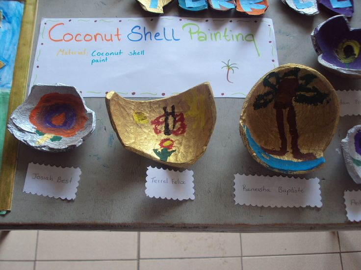 Coconut shell painting