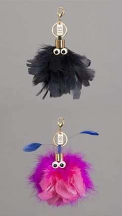 Meet Sam and Wizzy, these characterful keyrings feature gold-plated moveable eyes, clip onto your favourite Sophie Hulme bag for an instant update.