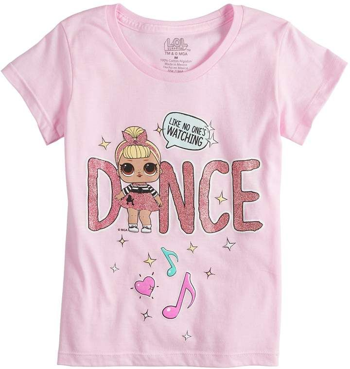 d0e068b0bf25 Girls 7-16 L.O.L. Surprise! Dolls Dance Graphic Tee   Cool clothes ...