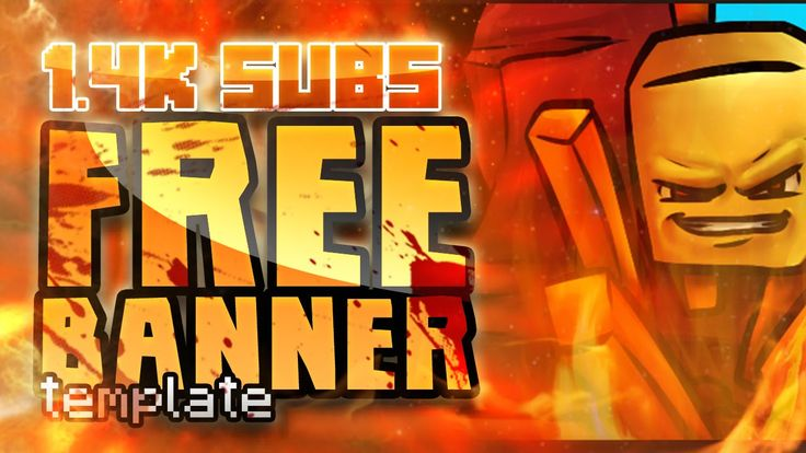 Free Minecraft YouTube Banner Template