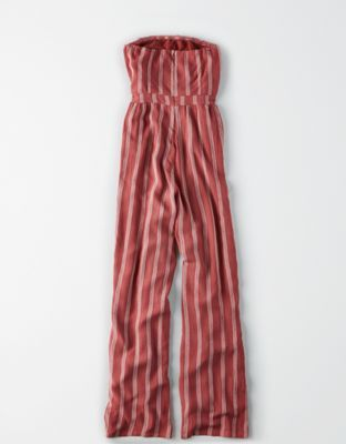 9d6f29da9d2 AE Striped Overlay Jumpsuit by American Eagle Outfitters
