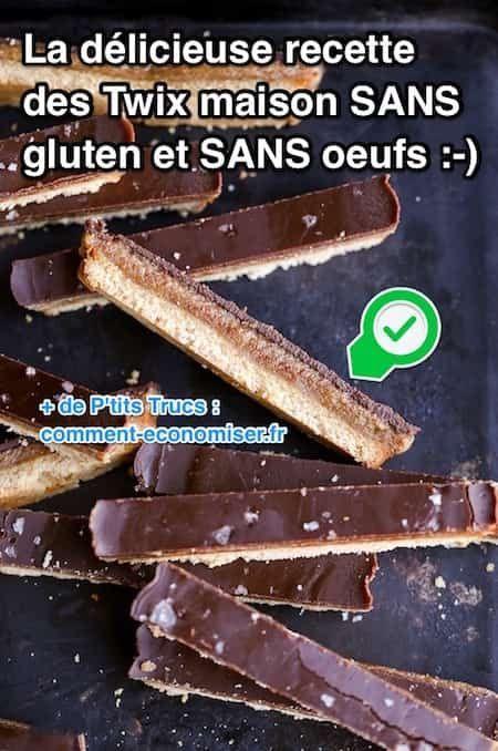 Cette recette nécessite seulement 6 ingrédients. Et bonne nouvelle, ce sont des ingrédients que vous pouvez manger sans culpabiliser. Vous pouvez en offrir à presque tout le monde... mais n'oubliez pas d'en garder quand même pour vous ! Découvrez l'astuce ici : http://www.comment-economiser.fr/delicieuse-recette-des-twix-maison-sans-gluten-et-sans-oeufs.html?utm_content=buffer1c542&utm_medium=social&utm_source=pinterest.com&utm_campaign=buffer