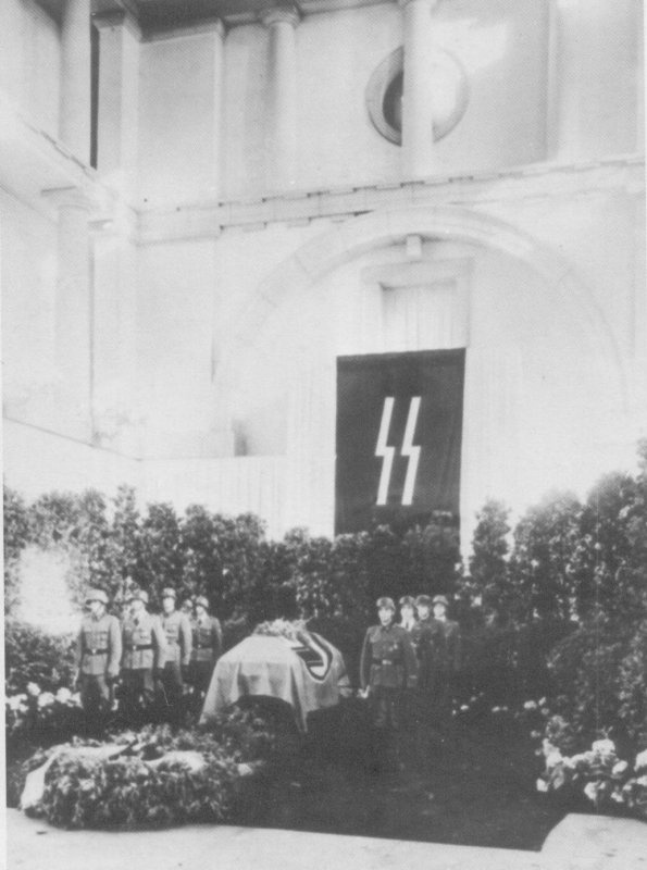 Heydrich's coffin in Prague