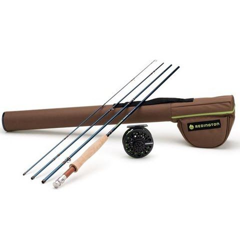 Redington Youth 4 - Piece , 8ft 6in 5 / 6wt Crosswater Fly Fishing Outfit: Start your obsession with fly… #OutdoorGear #Camping #Hiking