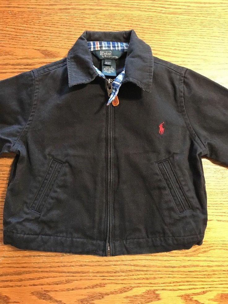 Polo, Ralph Lauren Toddler Boys Size 2T Navy, Chino Jacket  | eBay