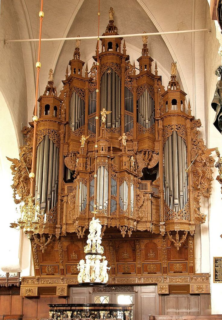 St. Aegidien at Luebeck, Germany, the organ