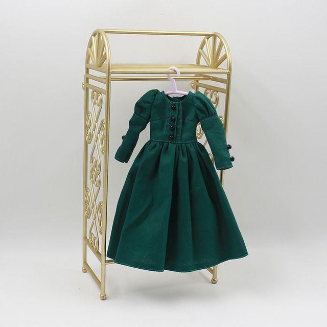 Ретро темно зеленый длинный участок дна юбка подходит для куклы bjd diyкупить в магазине Blythe HomesнаAliExpress