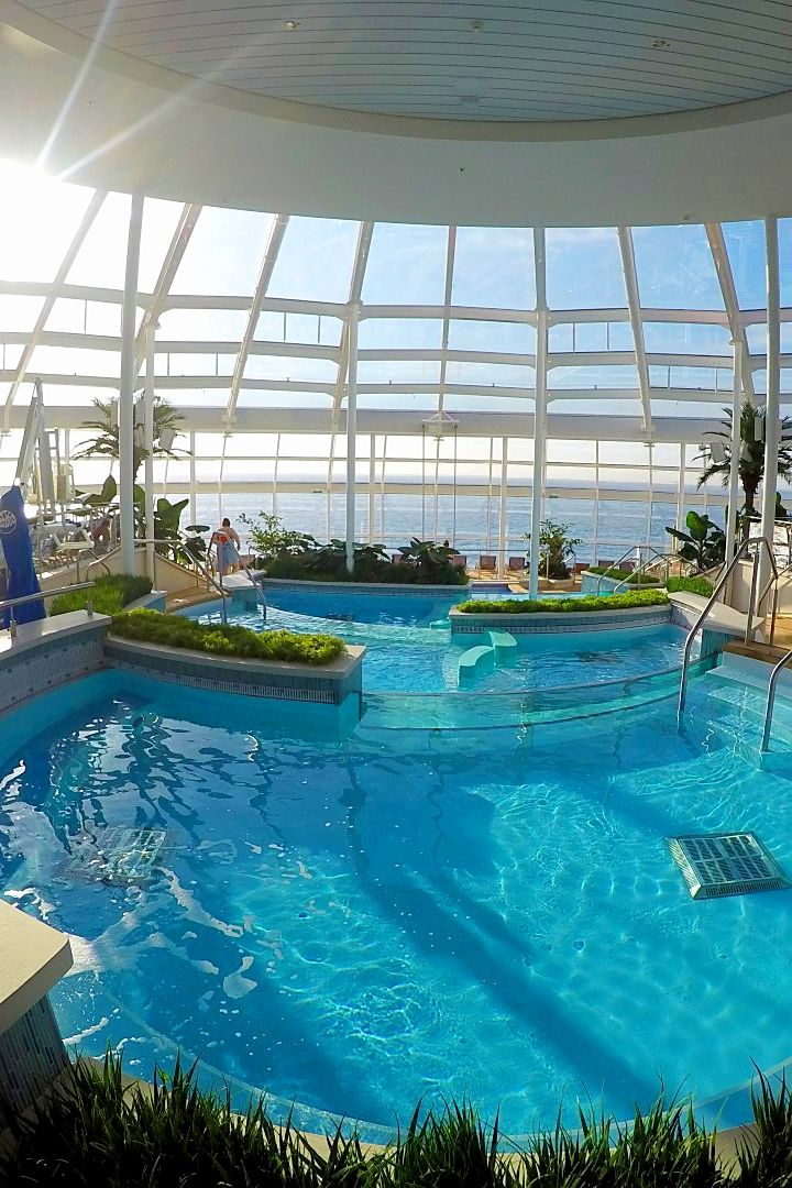 Anthem of the Seas | Take peace and relaxation to a whole new level in the stunning Royal Caribbean solarium. Photo by Adrian R.