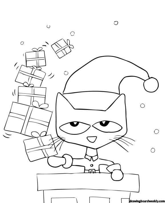 Pete The Cat Coloring Page Christmas Coloring Sheets Cat Coloring Page Pete The Cat