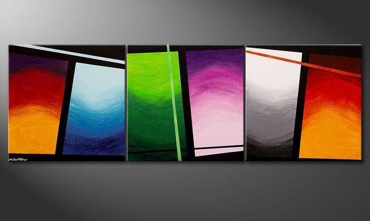 Wandbild im Großformat Wave of Colors 240x80cm - Wandbilder XXL
