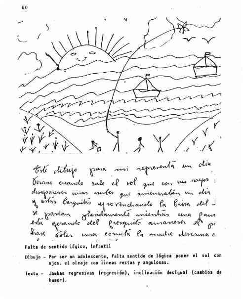 Una lámina del test del Horizonte del Mar (Carreras)  © AGC DE ESPAÑA www.grafoanalisis.com