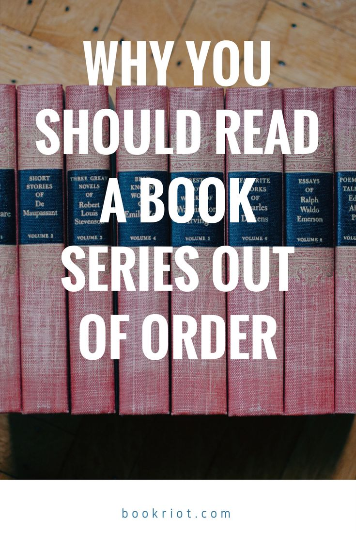 Everyone Should Read A Book Series Out Of Order