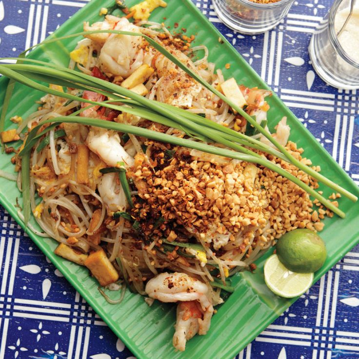 """This Pad Thai is not the dish from the neighborhood take-out joint. """"It ain't made with chicken,"""" says Ricker, whose traditional take—pleasantly funky with fish sauce and preserved radish and a touch sour from tamarind—is meant to be eaten in the evening as a stand-alone dish."""