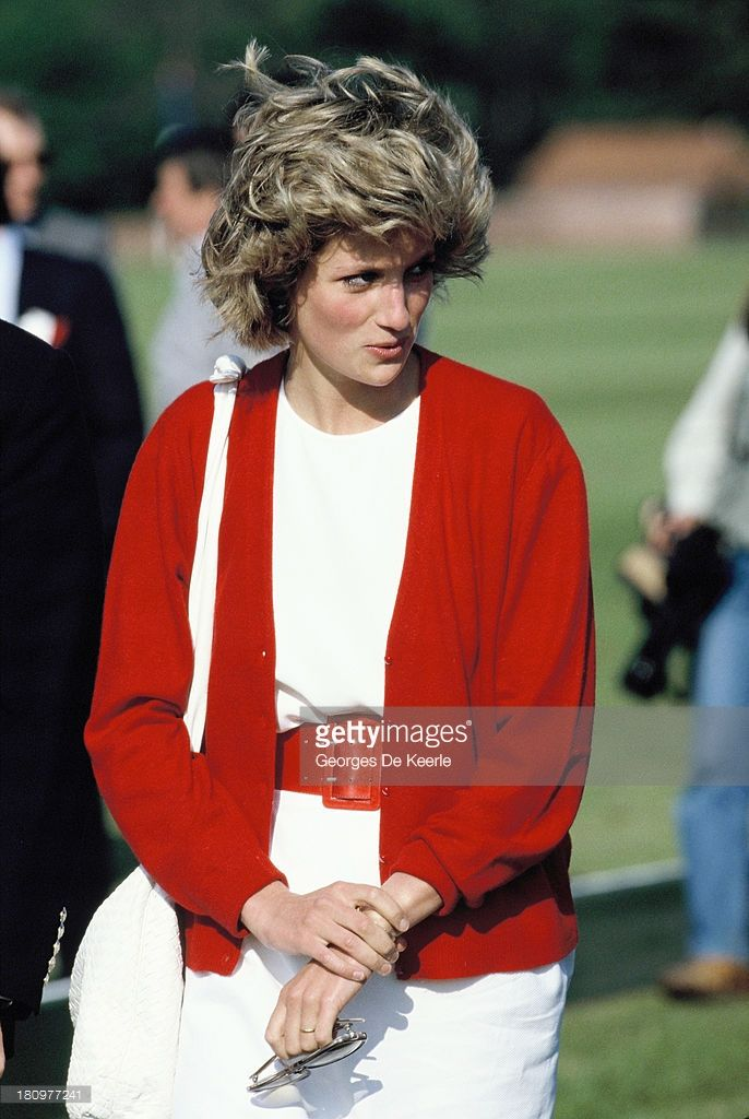 Diana Princess of Wales at Guards Polo Club in Windsor Great Park on May 29 1985 in Windsor...