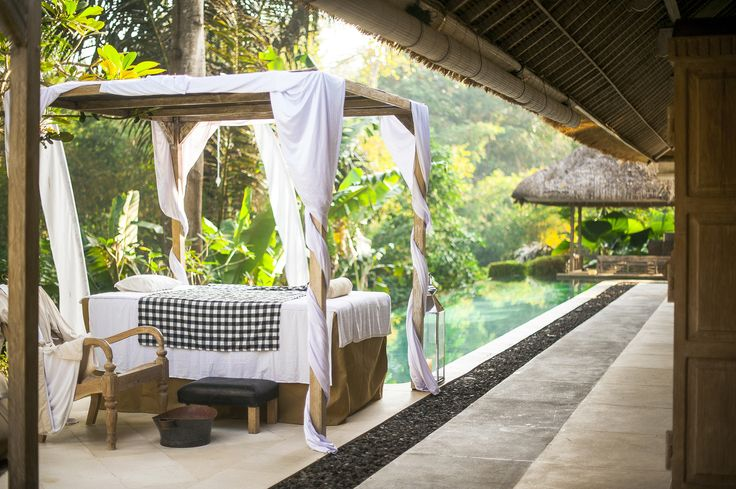 In-house spa treatments poolside or in the dedicated spa room at Villa Sungai Bali