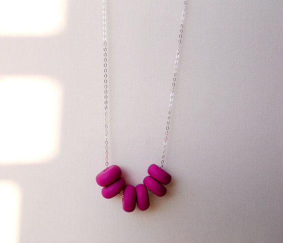 Handcrafter polymer clay necklace by craft & folk in Fruits of the Forest  https://www.etsy.com/ie/listing/219489490/fruits-of-the-forest-handmade-polymer?ref=related-1