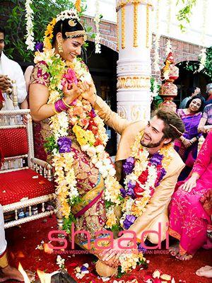 Floral Rainbow #indianweddinggarlands #shaadimagazine