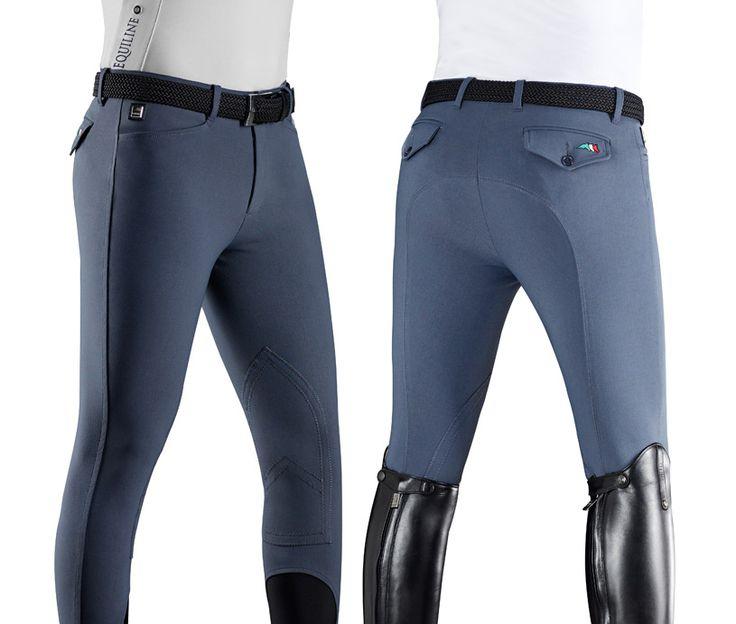 Pantalone da Equitazione Uomo Equiline Grafton