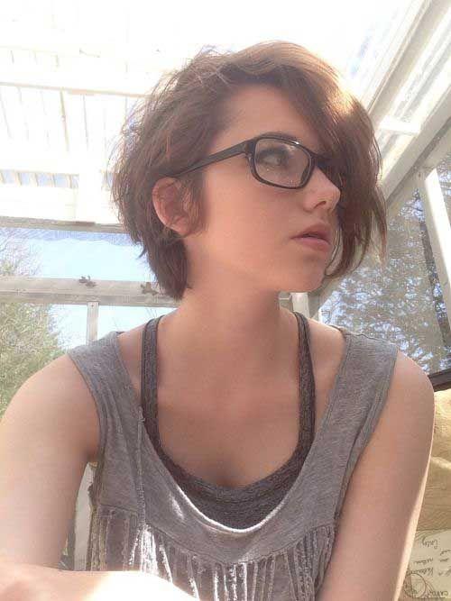 Damen Choise kurze braune Haare