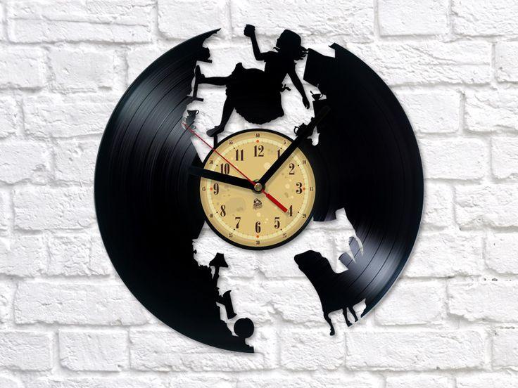 Vinyl Clock - Alice in Wonderland