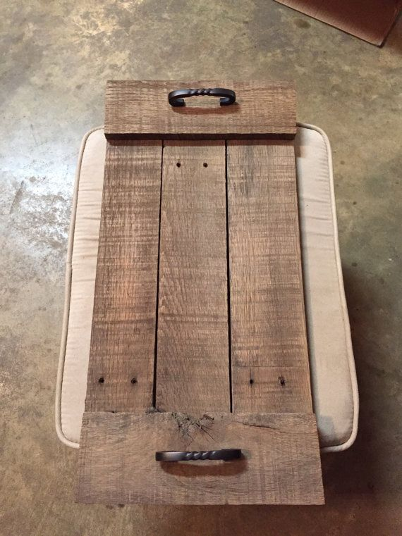 Rustic TV trays pair reclaimed wood by LaRustics on Etsy