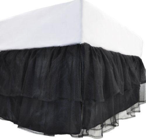 Tadpoles Triple Layer Tulle Twin Bed Skirt, Black by Sleeping Partners, http://www.amazon.com/dp/B0054W4LZY/ref=cm_sw_r_pi_dp_lOK-pb1P21M7X