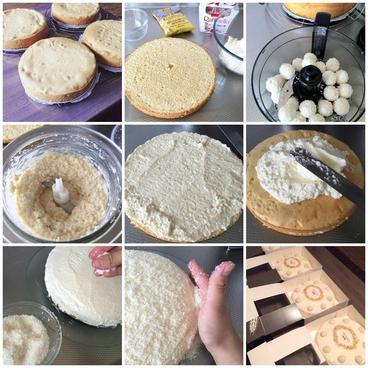 raffaello kokos taart recept